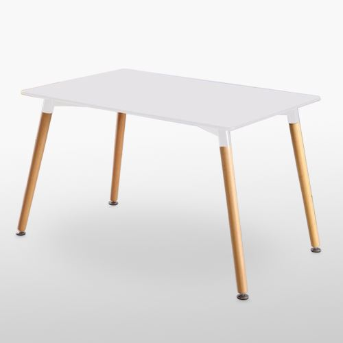 ensemble table et 4 chaises blanches scandinaves lorenzo