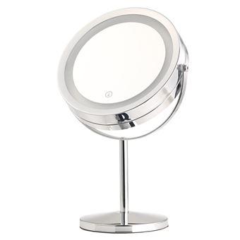 Miroir Grossissant Lumineux Led Double Face A Pied Miroir Achat Prix Fnac