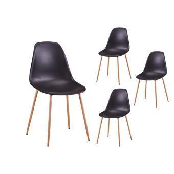 lot de 4 chaises scandinaves eva coque