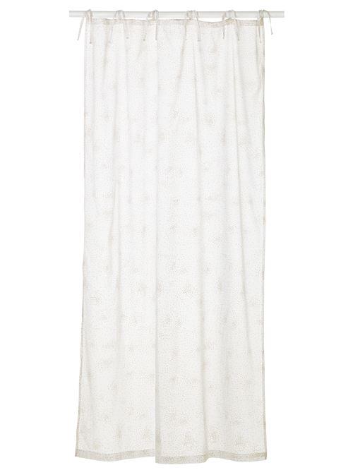 vertbaudet rideau voilage paillete feerie blanc paillettes 105x240