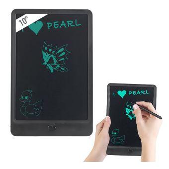 ardoise tablette lcd 10 avec stylet et verrouillage des touches