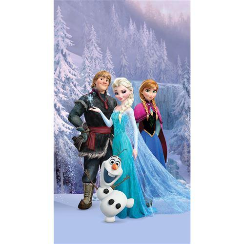 rideau occultant taille l la reine des neiges portrait anna elsa et leurs amis de disney 140cm x 245cm