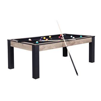 https www fnac com mp41342915 billard connecticut 213 cm industriel tapis noir convertible table salle manger w 4