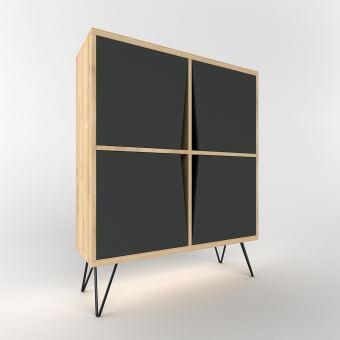 etagere buffet design bois momentum l 90 x h 110 cm noir