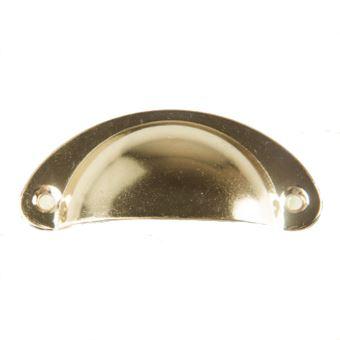 10 poignee de coquille vintage pour tiroir armoire meuble cuisine fer incurve bouton de porte de placard retro 8 2 cm x 3 5 cm jaune