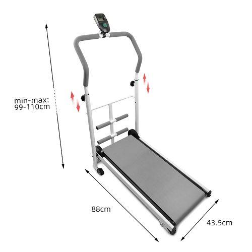 tapis de course roulant manuel pliable jeobest ecran led fitness musculation