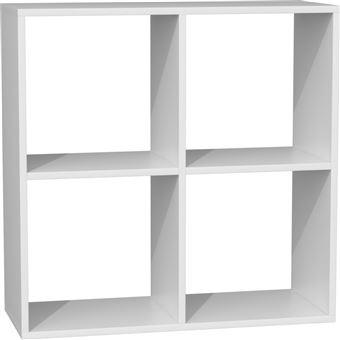 marion etagere casier fonctionnelle bibliotheque chambre bureau salon dimensions 75x74x30 meuble rangement livres blanc