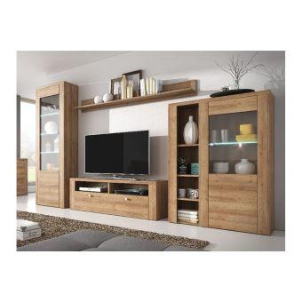 ensemble meuble tv design aleron bois