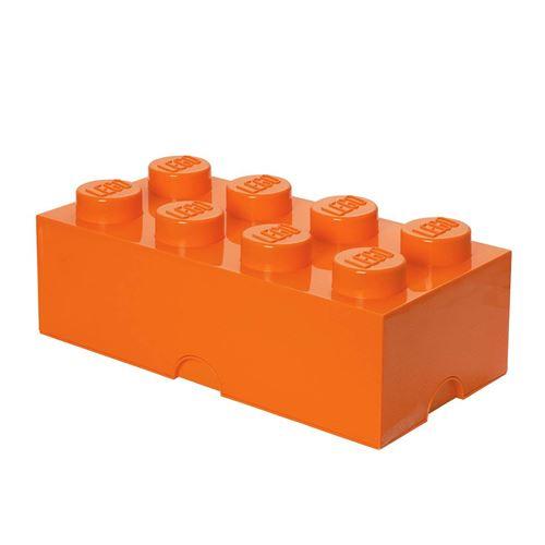 brique de rangement lego 8 plots boite de rangement empilable 12 l orange