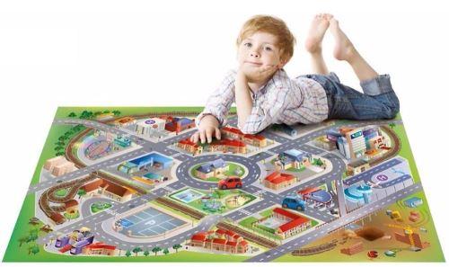 house of kids tapis de jeu interieur la ville 150x100cm
