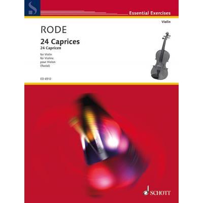 Partitions classique SCHOTT RODE JACQUES P. JOSEPH - 24 CAPRICES - VIOLIN Violon