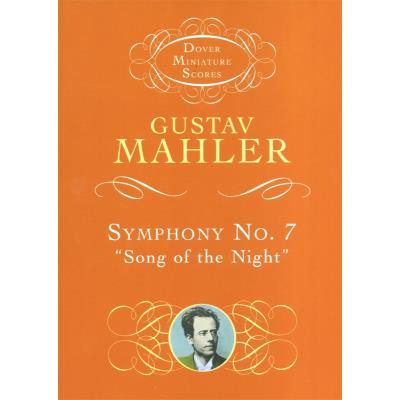 Partitions classique DOVER MAHLER GUSTAV SYMPHONY NO.7 SONG OF THE NIGHT MINIATURE SCORE - ORCHESTRA Orchestre