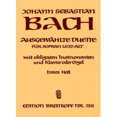 Partitions classique EDITION BREITKOPF BACH JOHANN SEBASTIAN - AUSGEW. DUETTE SOPRAN UND ALT 1 - SOPRANO, ALTO, INSTRUMENTS, PIANO Choeur et ensemble vocal