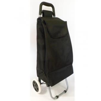 chariot de courses uni noir caddie poussette de marche