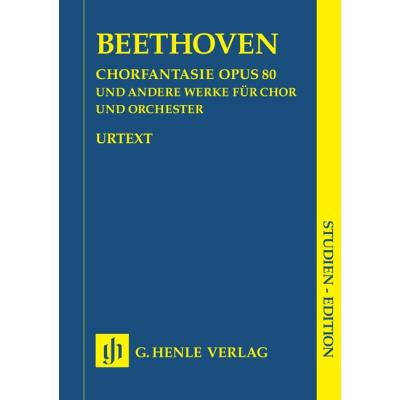 Partitions classique HENLE VERLAG BEETHOVEN L.V. - CHORUS FANTASY C MINOR OP. 80 AND OTHER WORKS (OP. 112, 118, 121B, 122, WOO 95) Grand format