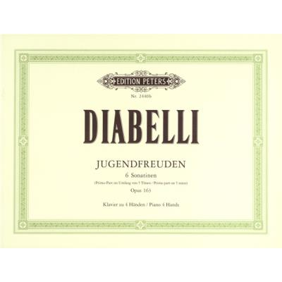 Partitions classique EDITION PETERS DIABELLI ANTON - JUGENDFREUDEN OP.163 - PIANO 4 HANDS Piano