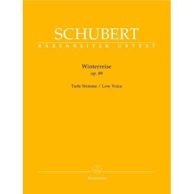 Partitions classique BARENREITER SCHUBERT F. - WINTERREISE OP.89 D 911 - VOIX BASSE, PIANO Baryton, piano