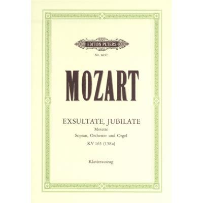 Partitions classique EDITION PETERS MOZART WOLFGANG AMADEUS - EXSULTATE, JUBILATE K165 - VOICE AND PIANO (PAR 10 MINIMUM) Choeur et ensemble vocal