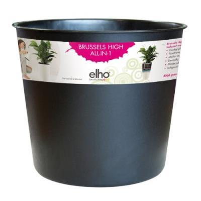 Elho 2054461 Brussels Diamant Pot Interne Noir 23 X 23 X 20 Cm