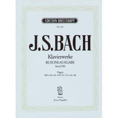 Partitions classique EDITION BREITKOPF BACH J.S. - FUGEN - PIANO Piano