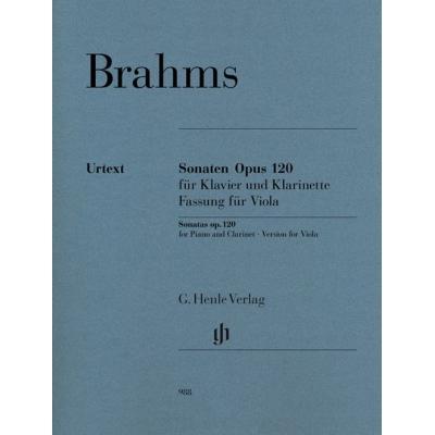 Brahms Johannes - Sonates Op.120 Nos 1 Et 2 - Alto/Piano