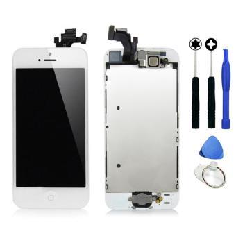 ecran lcd vitre tactile complet assemble pour iphone 5s blanc outils