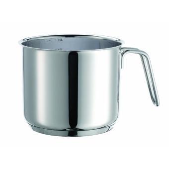 domestic top selection 810018 varuna casserole a induction pour le lait avec echelle graduee en acier inoxydable 1810 0 6 mm 14