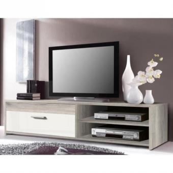 katso meuble tv 120 cm chene blanc
