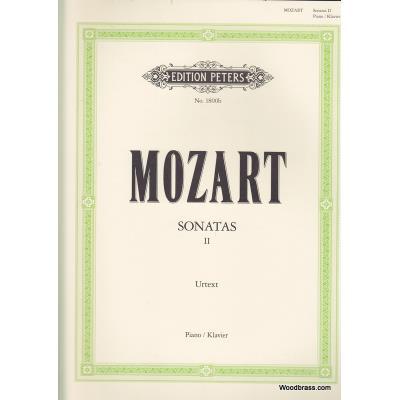 Partitions classique EDITION PETERS MOZART W.A. - SONATES VOL.2 (N°11-19) - PIANO Piano