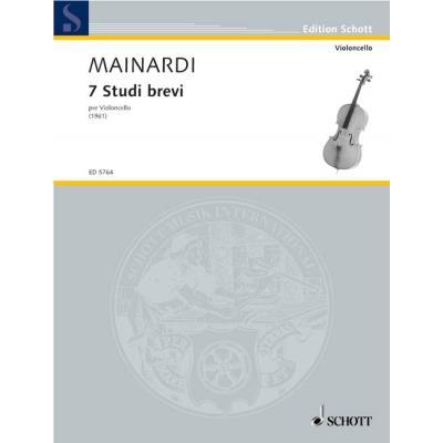 Partitions classique SCHOTT MAINARDI ENRICO - SETTE STUDI BREVI - CELLO Violoncelle