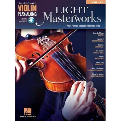 Violin Playalong Vol.047 Light Masterworks + Audio Online Access