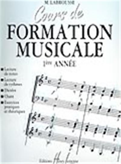 COURS DE FORMATION MUSICALE VOL 1