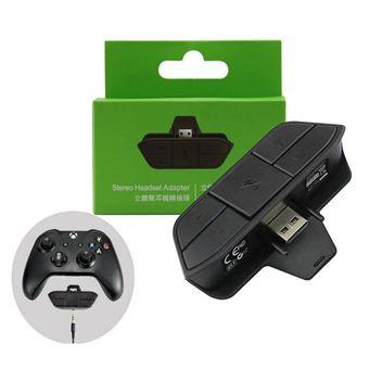 qumox stereo 3 5mm adaptateur de casque ecouteur stereo pour microsoft xbox one convertisseur controleur de jeu noir