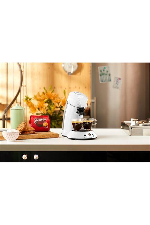 Cafetiere A Dosette Philips Senseo Original Hd6554 14 1450 W Blanc Avec Porte Dosettes Achat Prix Fnac