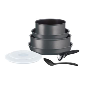 batterie de cuisine tefal ingenio performance 8 pieces gris