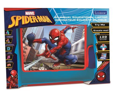 ordinateur portable educatif bilingue lexibook spider man 120 activites anglais et francais