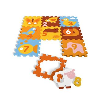 tapis puzzle en mousse animaux tatamiz