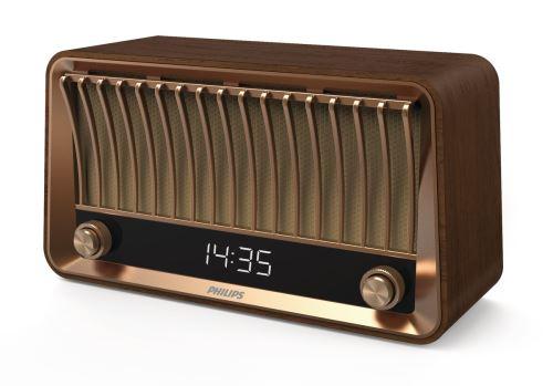 enceinte bluetooth vintage philips vs700 bois radio dab