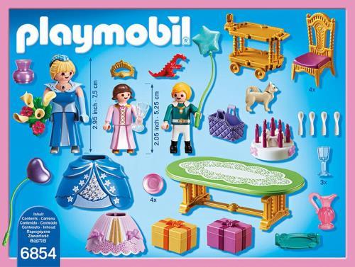 playmobil princess 6854 salle a manger pour anniversaire princier