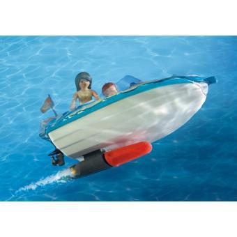 playmobil summer fun 6864 voiture avec bateau et moteur submersible