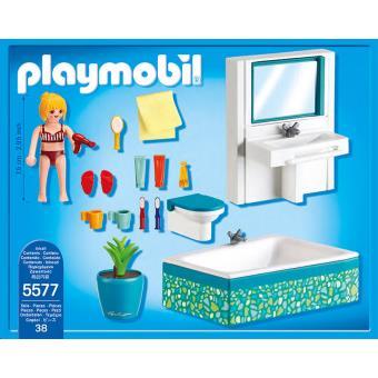 playmobil city life 5577 salle de bains avec baignoire