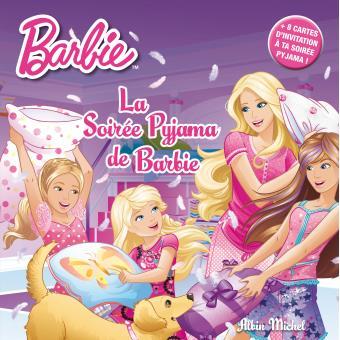 barbie livre 8 cartes d invitation la soiree pyjama de barbie album 8 cartes d invitation