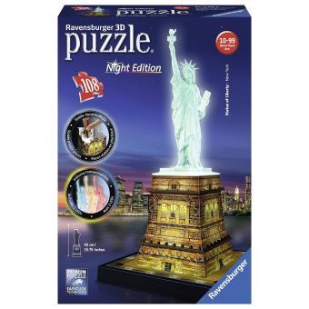puzzle 3d ravensburger statue de la liberte illuminee