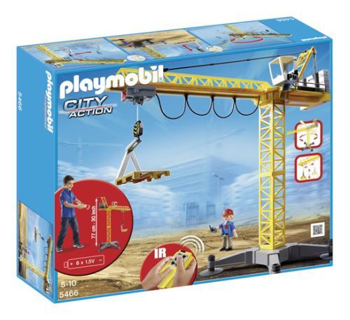 playmobil city action 5466 grande grue de chantier radio commandee