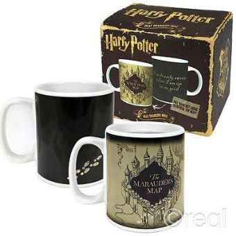 Harry potter marauders map/mug heat changing 400ml