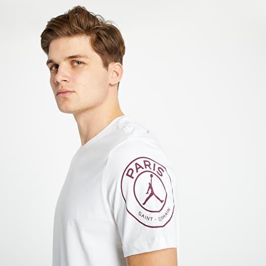 jordan psg logo tee white footshop