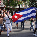 Watch: American flags fly high in opposition of Cuba's communist government 💥💥