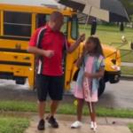 Sweet video of school bus driver befriending 9-year-old student goes viral: 'Beautiful to watch' 💥💥