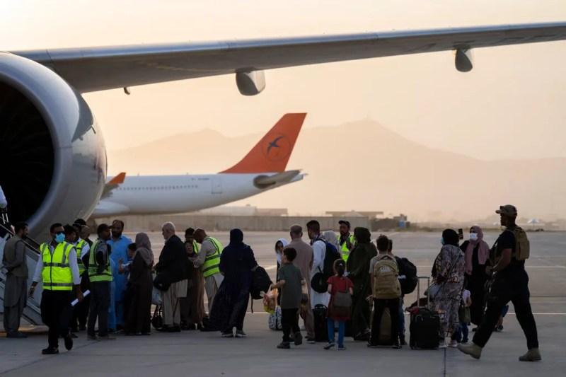 US: Afghan evacuee flights halted from two key bases