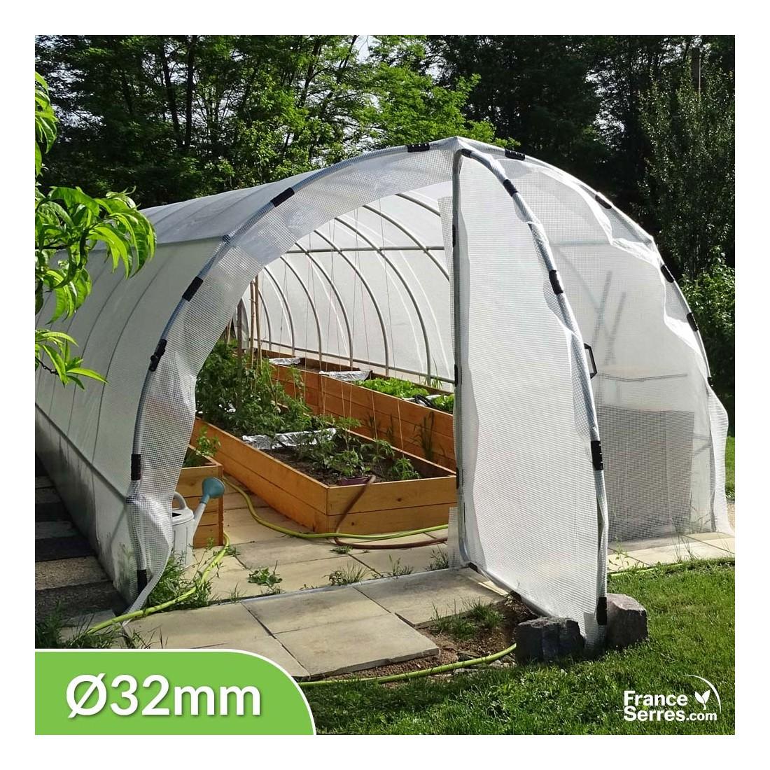 serre tunnel 30m avec 2 portes serre de jardin